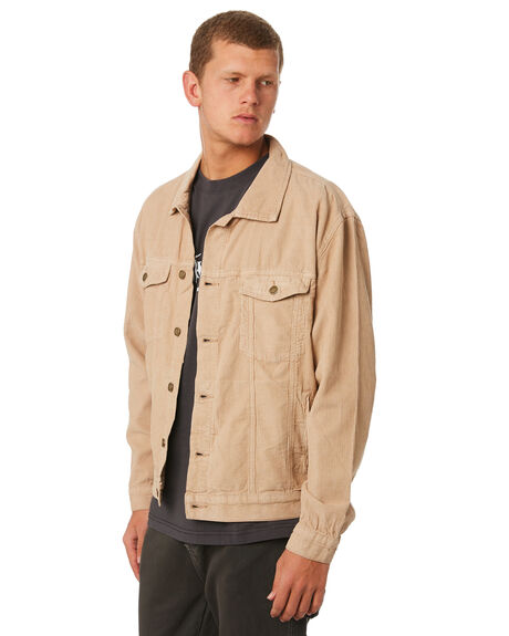 OVERDYED TAN MENS CLOTHING THRILLS JACKETS - TDP-234OCOVTAN