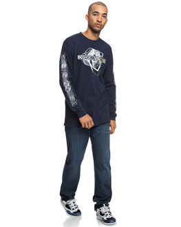BLACK IRIS MENS CLOTHING DC SHOES TEES - UDYZT03549BTL0