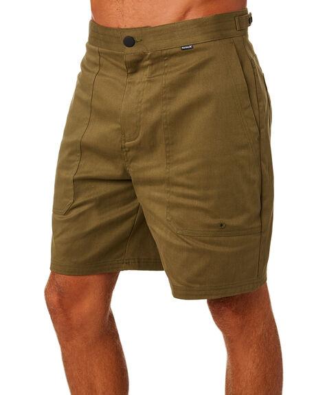 OLIVE CANVAS MENS CLOTHING HURLEY SHORTS - AT4169395