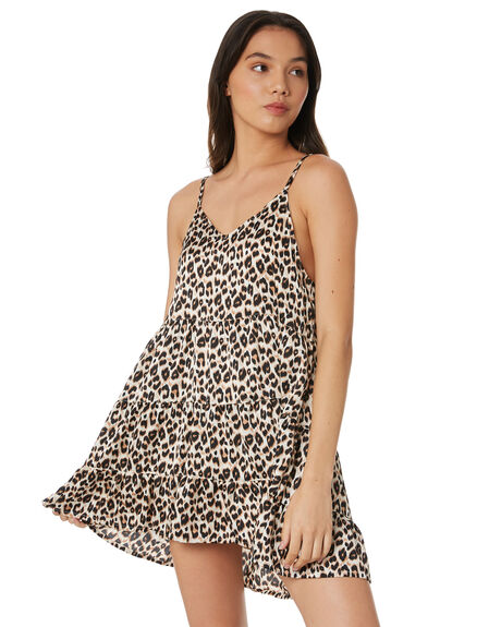 LEOPARD WOMENS CLOTHING ALL ABOUT EVE DRESSES - 6446217LEOP