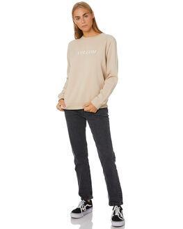 OXFORD TAN WOMENS CLOTHING VOLCOM JUMPERS - B4612075-OXTAN
