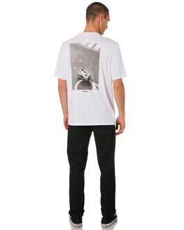 BRIGHT WHITE BLACK MENS CLOTHING HERSCHEL SUPPLY CO TEES - 50027-00471