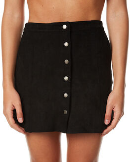 BLACK WOMENS CLOTHING ALL ABOUT EVE SKIRTS - 6491018BLK