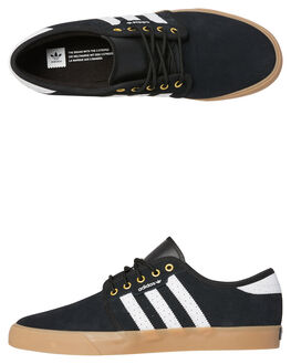 BLACK GUM MENS FOOTWEAR ADIDAS SNEAKERS - B27789BKGUM