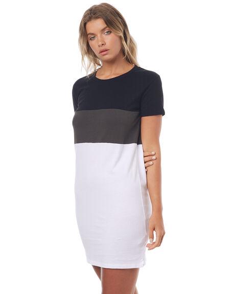 BLOCK STRIPE WOMENS CLOTHING SWELL DRESSES - S8171446BOKST