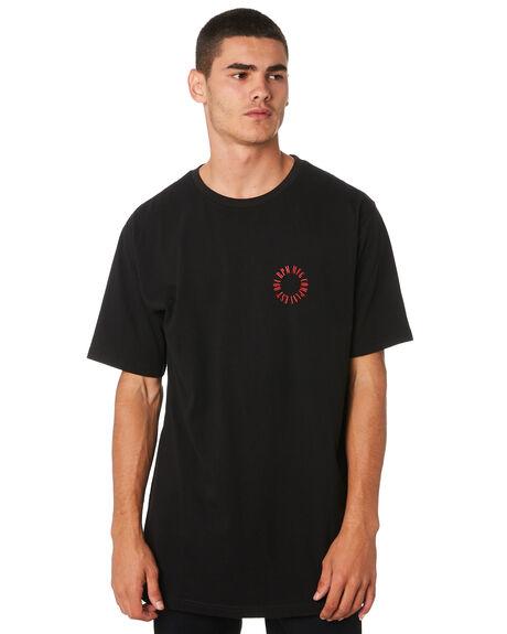 BLACK MENS CLOTHING RPM TEES - 9AMT03ABLK