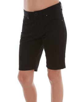 BLACK KIDS BOYS VOLCOM SHORTS - C0931700BLK