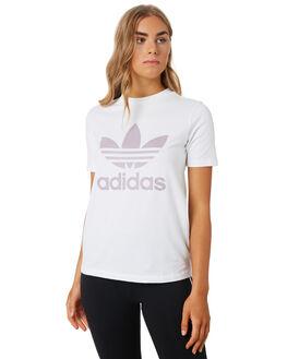 WHITE SOFT VISION WOMENS CLOTHING ADIDAS ACTIVEWEAR - FJ9454WHTVS