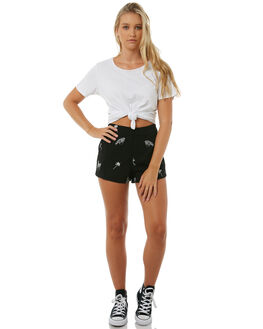 BLACK WOMENS CLOTHING VOLCOM SHORTS - B0911806BLK