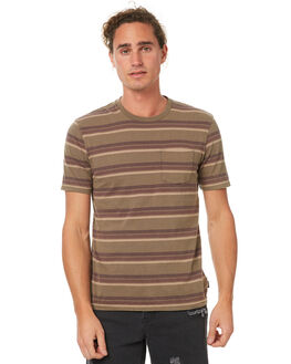 OLIVE MENS CLOTHING BRIXTON TEES - 02241OLBRN