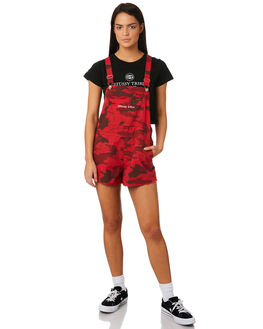 RED CAMO WOMENS CLOTHING STUSSY PLAYSUITS + OVERALLS - ST183606RED