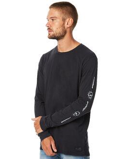WASHED BLACK MENS CLOTHING GLOBE TEES - GB01730020WBLK