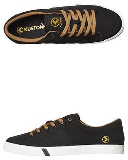 BLACK GOLD DIVIDE MENS FOOTWEAR KUSTOM SNEAKERS - 4981114PBKGD