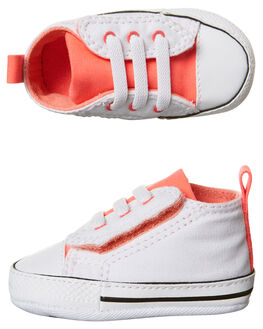 WHITE BLUSH HOTPUNCH KIDS TODDLER GIRLS CONVERSE FOOTWEAR - 857430WSH