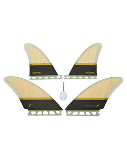 BAMBOO BROWN BOARDSPORTS SURF FUTURE FINS FINS - 1200-154-40BAMBR