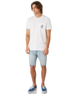 WHITE OUTLET MENS CAPTAIN FIN CO. TEES - CT193012WHT