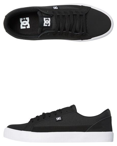 BLACK WHITE MENS FOOTWEAR DC SHOES SNEAKERS - ADYS300491BKW