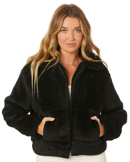 BLACK WOMENS CLOTHING ALL ABOUT EVE JACKETS - 6453076BLK