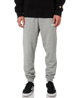 GREY HEATHER WHITE MENS CLOTHING CARHARTT PANTS - I024672-V6GRYH