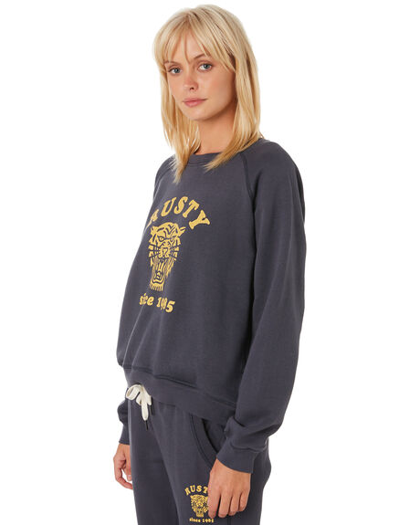 DARK SAPPHIRE WOMENS CLOTHING RUSTY JUMPERS - FTL0682DRS
