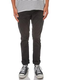 BLACK MENS CLOTHING NUDIE JEANS CO PANTS - 120110BLK