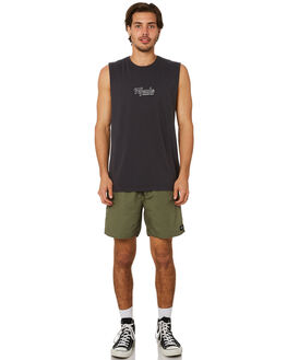 DEEP NAVY MENS CLOTHING AFENDS SINGLETS - M191081DPNVY