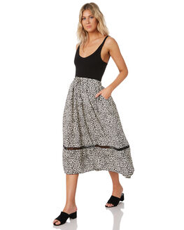 FEATHER GREY WOMENS CLOTHING RUSTY SKIRTS - SKL0478FTG