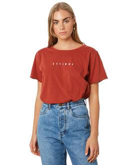 ROCKER RED WOMENS CLOTHING THRILLS TEES - WTR9-100HRRRED