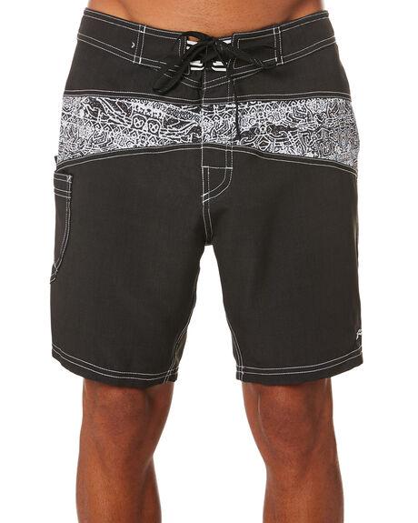 BLACK MENS CLOTHING RUSTY BOARDSHORTS - BSM1482BLK