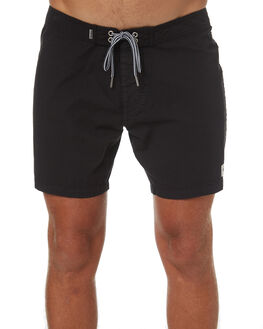 WASHED BLACK OUTLET MENS RHYTHM BOARDSHORTS - OCT18M-TR05-BLK