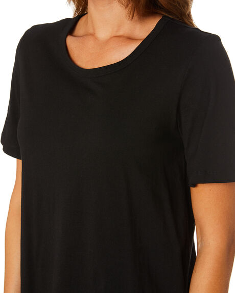 BLACK WOMENS CLOTHING BETTY BASICS TEES - BB267BLK