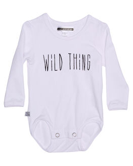 WHITE KIDS BABY SWEET CHILD OF MINE CLOTHING - LSWILDTHINGONSWHT