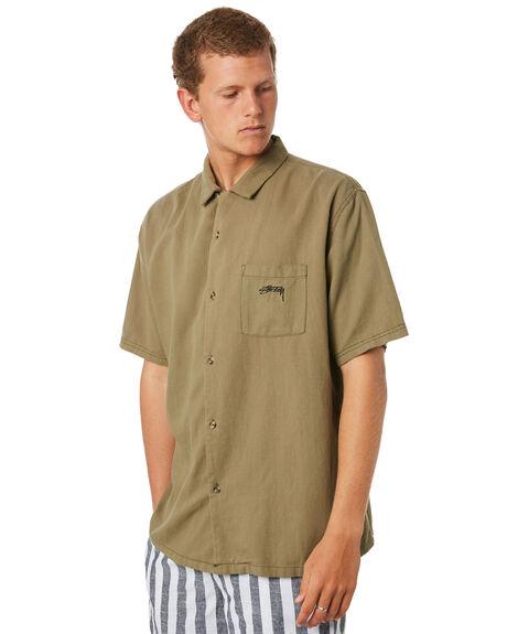 KHAKI MENS CLOTHING STUSSY SHIRTS - ST083412KHAKI