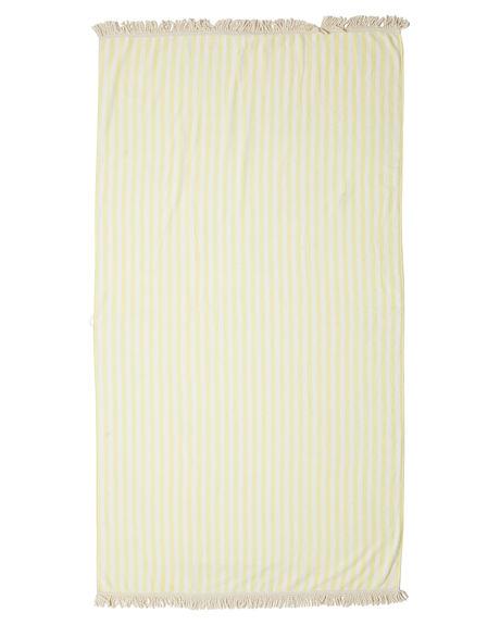 LEMON STRIPE WOMENS ACCESSORIES THE HIDDEN WAY TOWELS - H81222602LEMON