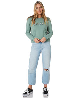 SILVER PINE HEATHER WOMENS CLOTHING HURLEY JUMPERS - CN8546329
