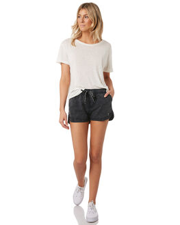 WASHED BLACK WOMENS CLOTHING SWELL SHORTS - S8189231WSHBK