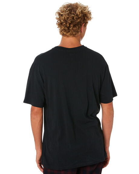 BLACK MENS CLOTHING STUSSY TEES - ST006000BLK