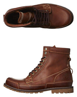 RED BROWN BURNISHED MENS FOOTWEAR TIMBERLAND BOOTS - 15551RDBR