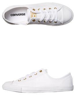 WHITE GOLD WOMENS FOOTWEAR CONVERSE SNEAKERS - 555839WHTG