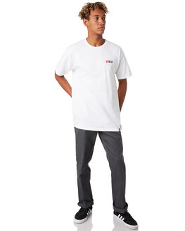 WHITE MENS CLOTHING HUF TEES - TS00800-WHITE