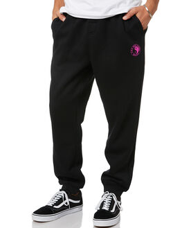 BLACK MENS CLOTHING TOWN AND COUNTRY PANTS - TFP610ABLK