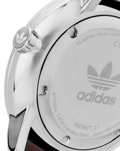 SILVER BROWN MENS ACCESSORIES ADIDAS WATCHES - Z08-1113