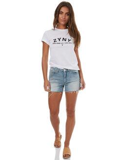 WHITE WOMENS CLOTHING ZOO YORK TEES - ZY-WTD7289WHT