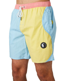 VINTAGE MULTI MENS CLOTHING TOWN AND COUNTRY BOARDSHORTS - TBO413DVMUL