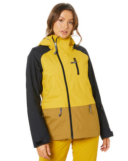 GOLDEN SPICE BLACK WOMENS CLOTHING THE NORTH FACE JACKETS - NF0A3M19FP3