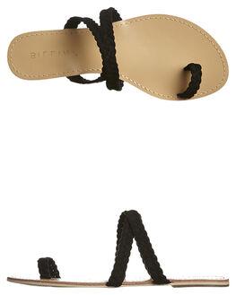 BLACK SUEDE WOMENS FOOTWEAR BILLINI FASHION SANDALS - S427BLK