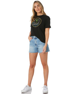 WASHED BLACK WOMENS CLOTHING SWELL TEES - S8202017WBLK