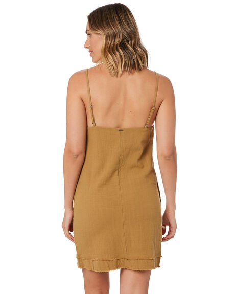 CAMEL WOMENS CLOTHING RUSTY DRESSES - DRL1047-CAM
