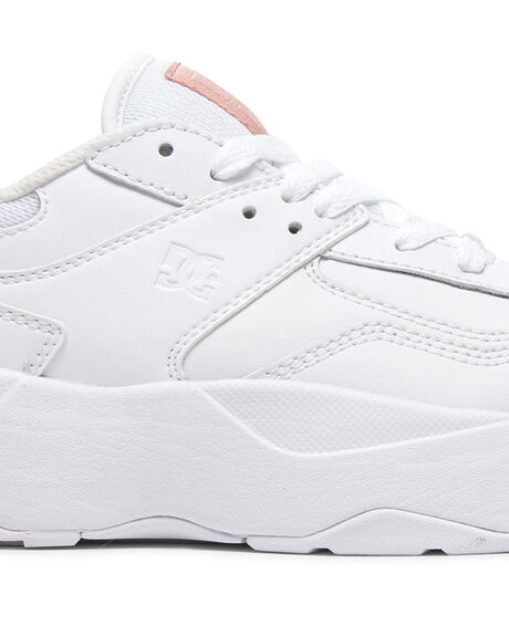 WHITE/WHITE/PINK WOMENS FOOTWEAR DC SHOES SNEAKERS - ADJS700078-WWP
