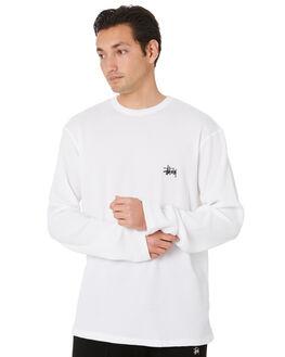 WHITE MENS CLOTHING STUSSY TEES - ST007109WHT